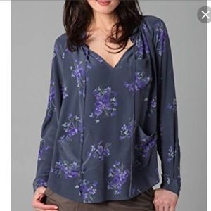 Rebecca Taylor Floral Silk Blouse box 12